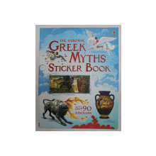 THE USBORNE GREEK MTYHS STICKER BOOK by ROSIE DICKINS , WITH OVER 90 STICKERS , 2012