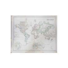 THE WORLD ON MERCATOR 'S PROJECTION by G.H. SWANSTON , HARTA , SECOLUL XIX