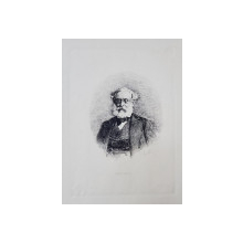 Theodor Aman (1831-1891 ) - Cessar Bolliac, Gravura