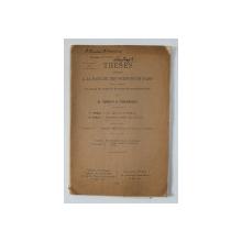 THESES ..POUR OBTENIR LE GRADE DE DOCTEUR EN SCIENCES MATHEMATIQUES par M. SERBAN et A. GHEORGHIU , 1928 , DEDICATIE*