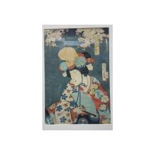 Toyohara Kunichika (1835-1900) - Gheisa, Stampa Japoneza