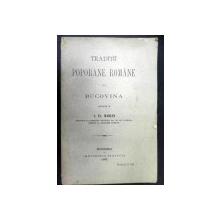 Traditii poporane romane din Bucovina  S.Fl.Marian