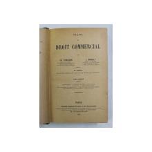 TRAITE DE DROIT COMMERCIAL par CH. LYON  - CAEN et L. RENAULT , TOME PREMIER , 1921