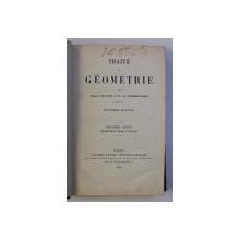 TRAITE DE GEOMETRIE par EUGENE ROUCHE et CH . de COMBEROUSSE , 1912