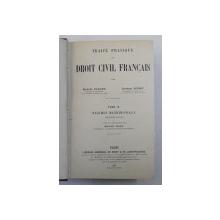 TRAITE PRATIQUE DE DROIT CIVIL FRANCAIS , REGIMES MATRIMONAUX , DEUXIEME PARTIE , TOME IX par MARCEL PLANIOL et GEORGES RIPERT , 1927