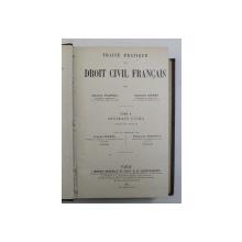 TRAITE PRATIQUE DE DROIT CIVIL PRATIQUE , CONTRATS CIVILS , PREMIERE PARTIE , TOME X par MARCEL PLANIOL et GEORGES RIPERT , 1932