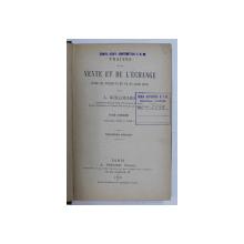 TRAITES DE LA VENTE ET DE L' ECHANGE par L. GUILLOUARD , 1902