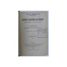 TRAITES DES CONTRATS ALEATOIRES & DU MANDAT par L. GUILLOUARD , 1894