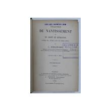 TRAITES DU NANTISSEMENT ET DU DROIT DE RETENTION par L. GUILLOUARD , 1896