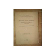 TRANDAFIRII SPONTANI SI CULTIVATI CUNOSCUTI PANA IN PREZENT IN ROMANIA de IULIU PRODAN, CLUJ 1932 * CU DEDICATIA AUTORULUI