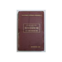 TRANSFORMISME ET CREATIONISME par J. L. DE LANESSAN , 1914