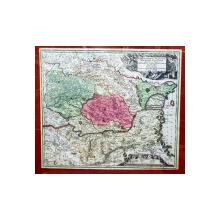 TRANSYLVANIAE, MOLDAVIAE, WALACHIAE, BULGARIAE nova et accurata Delinatio par MATHIAS SEUTTER - Harta 1730