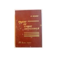 TRATAT DE CHIMIE ANORGANICA,VOL.2 de DUMITRU NEGOIU,BUC. 1972