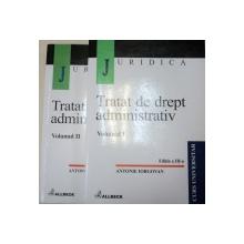 TRATAT DE DREPT ADMINISTRATIV - ANTONIE IORGOVAN  2 VOL  EDITIA A 3-A  2001 *CONTINE SUBLINIERI IN TEXT CU PIXUL ALBASTRU