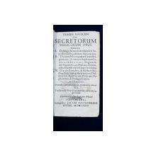 TRINUM MAGICUM Sive SECRETORUM MAGICORUM OPUS de Caesar Longinus - SEYLERI, 1673