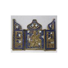 Triptic de calatorie din bronz, Rusia, cca. 1900