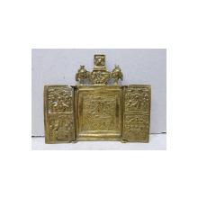 Triptic de calatorie din bronz - Rusia sec. XIX