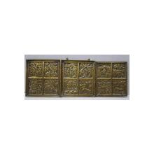 Triptic de calatorie din bronz, Rusia, sec. XIX