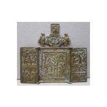 Triptic din bronz, Rusia, Sec. XIX