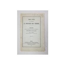 TROIS NOTES SUR LA THEORIE DE LA POUSSE DES TERRES par J. CURIE , 1873 , DEDICATIE*