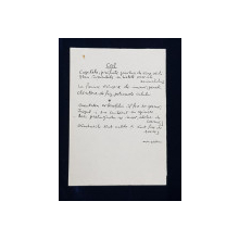 TUDOR  JEBELEANU , MANUSCRIS , POEZIA ' CAL ' , ANII '60