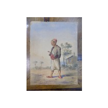 Turc, acuarela semnata Giesel 1869