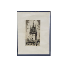 Turnul cu ceas din Sighisoara, Gravura