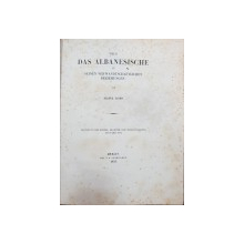 UBER DAS ALBANESISCHE IN SEINEN VERWANDTSCHFTLICHEN BEZIEHUNGEN von FRANZ BOPP - BERLIN, 1855