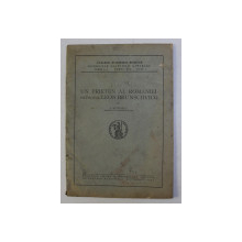 UN PRIETEN AL ROMANIEI - FILOSOFUL LEON BRUNSCHVICG de I. PETROVICI , 1947