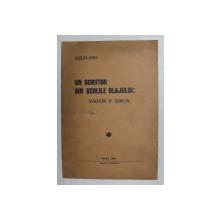 UN SCRIITOR DIN SCOLILE BALJULUI - SIMEON P. SIMON de NICOLAE LASLO , 1938