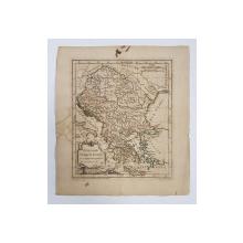 UNGARIA si TURCIA EUROPEANA - HARTA,1762