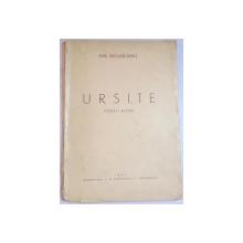 URSITE , POEZII ALESE de EMIL RIGLER DINU , 1944 , DEDICATIE*