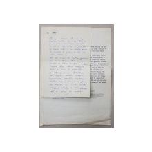 VAL MUNTEANU,  1927 - 1996 , SCRISOARE OLOGRAFA SI LA MASINA DE SCRIS , 1965