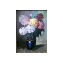 Vas cu crizanteme, nesemnat ,perioada interbelica