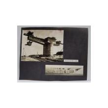 VIADUCTUL CATUSA - GALATI , FOTOGRAFII MONOCROME, LIPITE PE CARTON , ANII '70 - '80