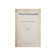 VIATA ROMANEASCA , REVISTA LITERARA SI STIINTIFICA  - VOLUMUL L , ANUL XIV , 1922