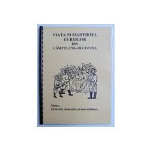 VIATA SI MARTIRIUL EVREILOR DIN CAMPULUNG - BUCOVINA de BUBY SCHIEHER , 1998