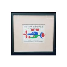 VICTOR BRAUNER, Invitatie la vernisajul expozitiei din 17 Decembrie 1948 - 15 Ianuarie 1949