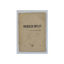 VIEATA SI SUFLET , REVISTA , AN I , nr. I , martie 1936