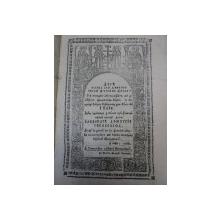 VIETILE SFINTELOR  PE LUNA IULIE - TIPARITA IN ZILELE LUI ALEXANDRU DIMITRIE GHIKA 1836