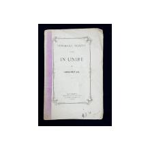 VIITORULU NOSTRU ESTE IN UNIRE de GEORGE BRATIANU , 1866