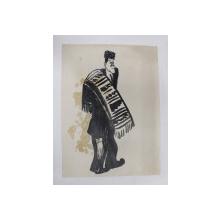 VIRGIL MADGEARU , CARICATURA de B'ARG ( ION BARBULESCU 1887 - 1969 ) , PERIOADA INTERBELICA