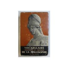 VOCABULAIRE DE LA PHILOSOPHIE , TECHNIQUE ET CRITIQUE , NEUVIEME EDITION par ANDRE LALANDE , 1962