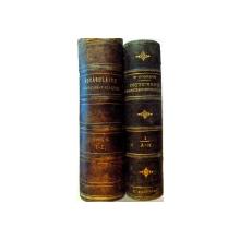 VOCABULAR FRANCESU ROMANU de P. POENAR tiparit la BUCURESTI in tipografia colegiului SF. SAVA in 1841 ,2 volume