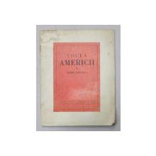 VOCEA AMERICII  - versuri de AUREL BARANGA , 1949 , CU DOUA DESENE de PERAHIM , DEDICATIE CATRE OVID S. CROHMALNICEANU *