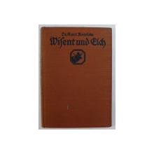 WISENT UND ELCH ( ZIMBRUL SI ELANUL ) von KURT FLOERIDE , 1930
