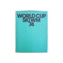WORLD CUP  74 / SKI WELT MEISTERSCHAFTEN . ST . MORITZ 1974 , PACHET DE DOUA VOLUME PREZENTATE IN CASETA , EDITII IN ENGLEZA - GERMANA - FRANCEZA - ITALIANA , 1974