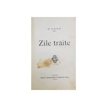 ZILE TRAITE de N. GANE - IASI, 1903