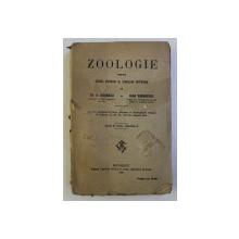 ZOOLOGIE PENTRU CURSUL SUPERIOR AL SCOALELOR SECUNDARE de TH. A. BADARAU si IOAN  SIMIONESCU , 1920