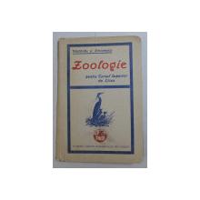 ZOOLOGIE PENTRU CURSUL SUPERIOR DE LICEU de T.A. BADARAU si I. SIMIONESCU , 1930